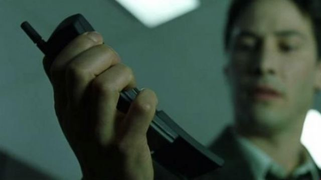 The Nokia 8110 used by Neo (Keanu Reeves) and Morpheus (Laurence Fishburne) in the Matrix