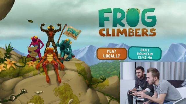 Le jeu vidéo Frog Climbers joué par Squeezie et Cyprien dans leur vidéo Youtube (Bigorneaux & Coquillages)