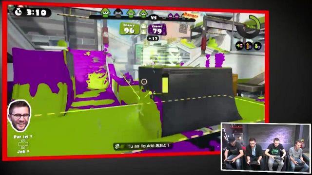 """Le jeu vidéo Splatoon dans la vidéo commune """"La guerre de peinture à 4 !"""" de Squeezie et Cyprien (Bigorneaux & Coquillages)"""
