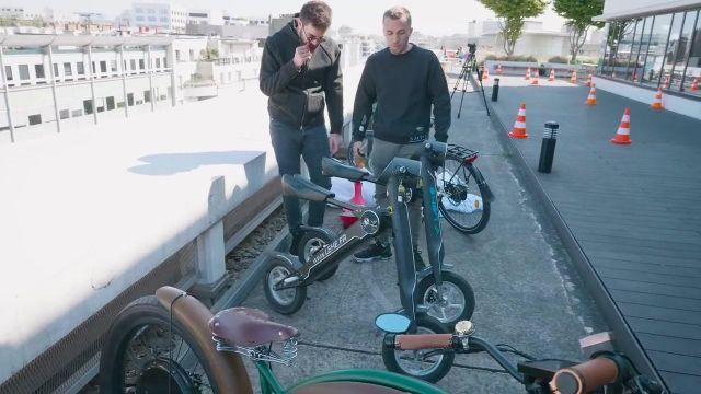 Le scooter électrique Lehe K1 dans la vidéo commune de Squeezie et Cyprien (Bigorneaux & Coquillages)