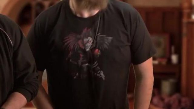 t shirt Death Note Ryuk vu dans Chansons françaises : le moment où ça a merdé (critique) de Linksthesun