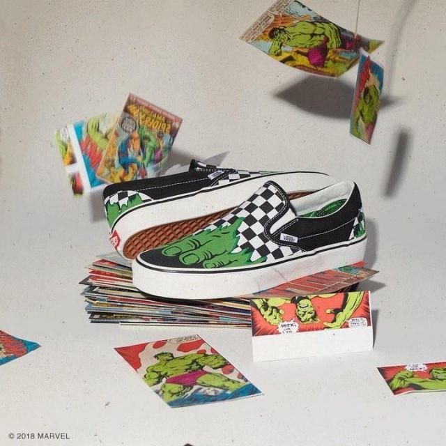 Shoes Vans X Marvel Classic Slip On on the account Instagram @vans ...