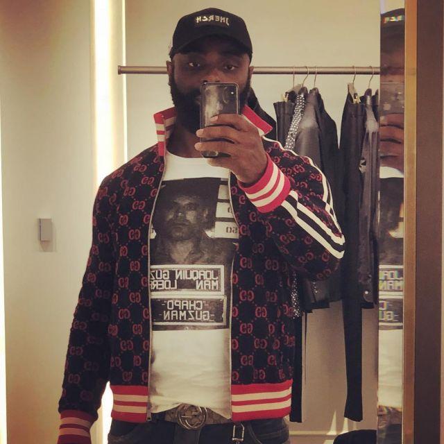 The Zipped Jacket Monogram Gucci Red Worn By Kaaris On His Post Instagram Spotern