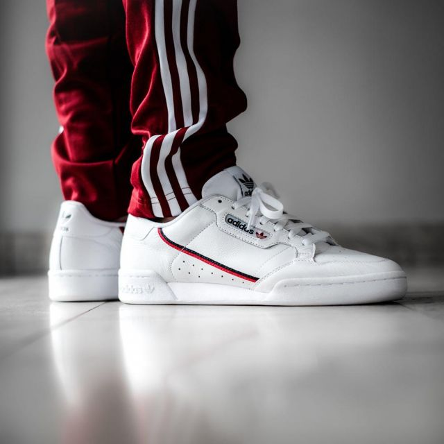 adidas Originals Continental 80 in white and red
