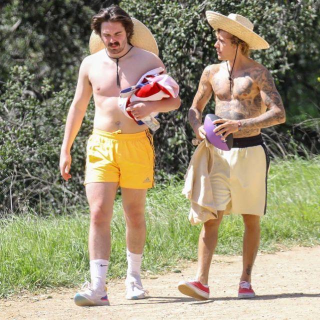La paire de chaussettes de training Nike Dry Cushion Crew que porte l'ami de Justin Bieber sur son compte Instagram