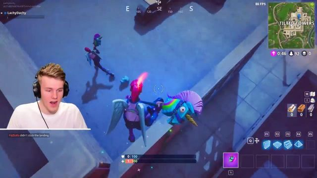 the replica of the deck unicorn in fortnite player lachlan ross power aka lachlan spotern lachlan ross power aka lachlan