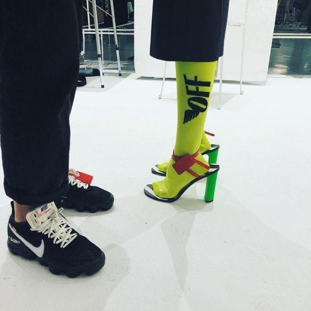 Calma Horror acortar  The Nike Air vapormax Virgil Abloh on his account Instagram | Spotern