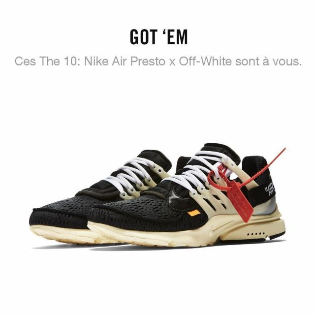 END. Features   Nike x Virgil Abloh The Ten: Air Presto