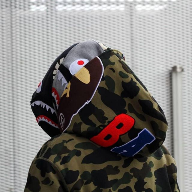 The hoody camouflage Bape worn by Drake on Instagram | Spotern