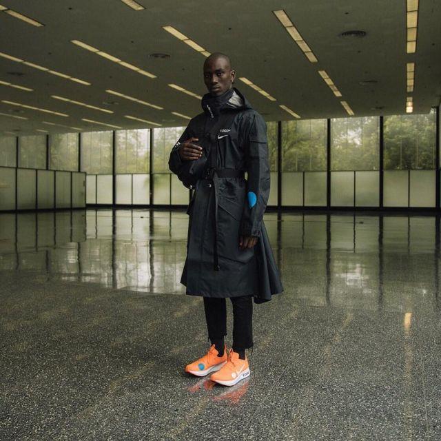 The Nike Zoom Fly Mercurial orange of