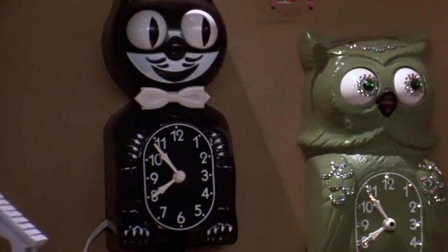 L'horloge-chat de Doc Brown (Christopher LLoyd) dans Retour vers le futur