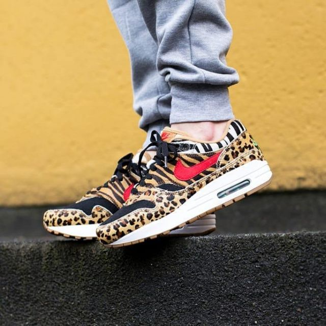 nouveau concept a1363 6ad58 sneakers nike Air Max 1 Atmos Animal leopard pattern seen on ...