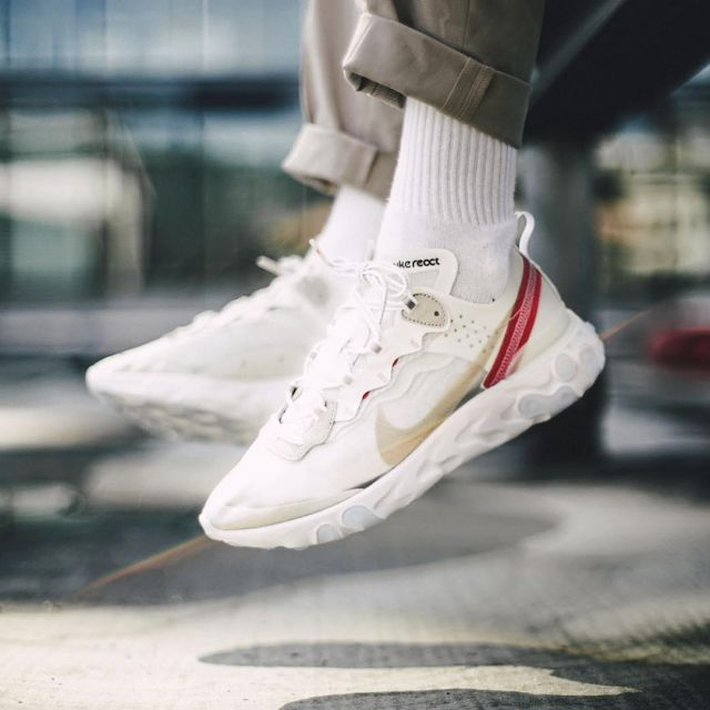 super cute nice shoes large discount Les sneakers blanches Nike React Element 87 sur le compte ...