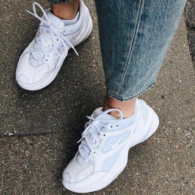 Les Nike m2k tekno pure platinium blanches sur le compte