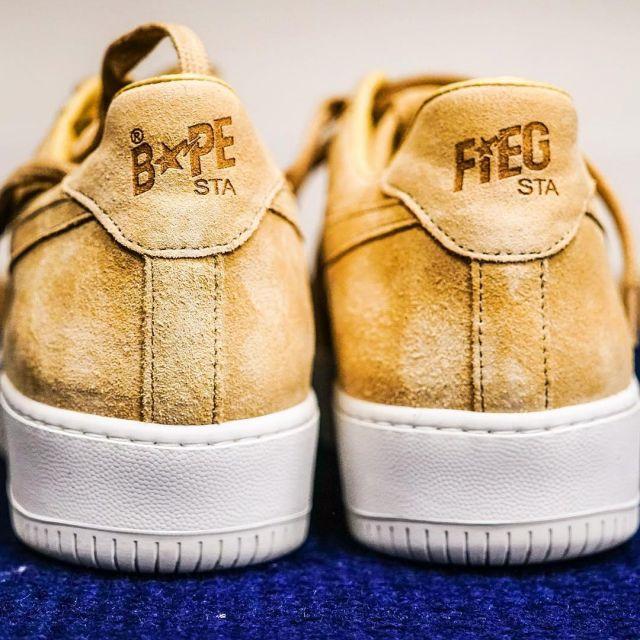 Les sneakers RF X BAPE beige de Fabolous sur son compte