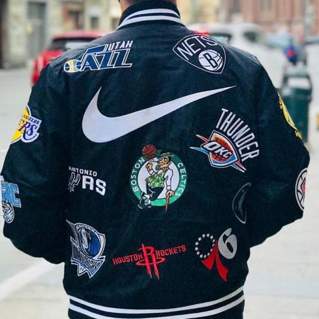 The black jacket Supreme NikeNBA on the account Instagram