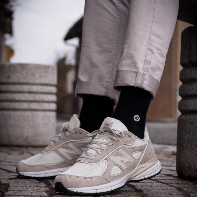 newest 78858 4f1ff The NEW BALANCE x Stussy beige BISSO97120 on his account ...
