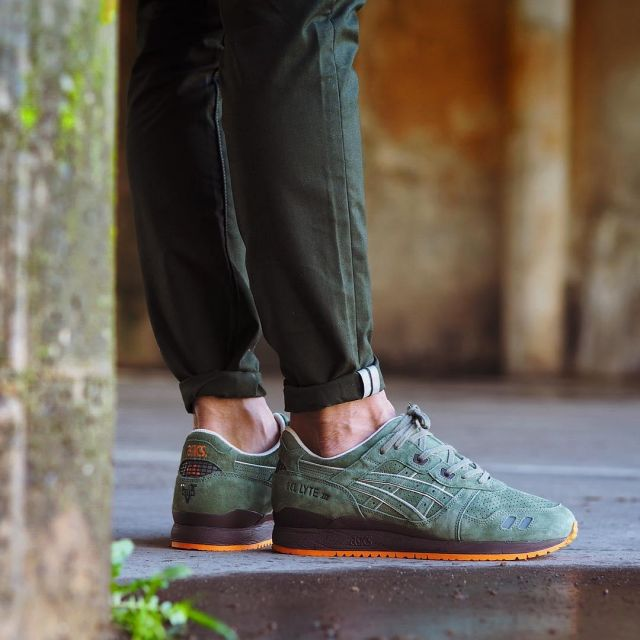 nouveau produit a9a48 0d62c The Asics Gel Lyte green bisso97120 on his account Instagram ...