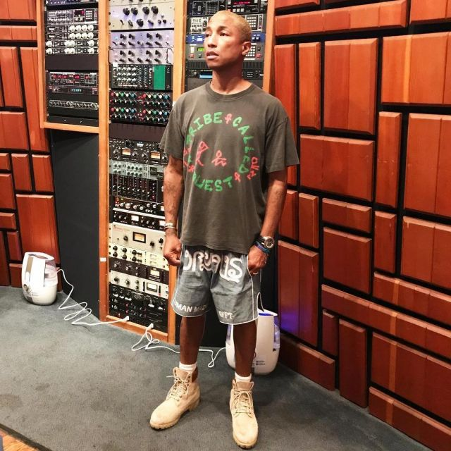 low priced 1edb2 71e34 The pair of Boots brown Timberland wears Pharrell Williams ...