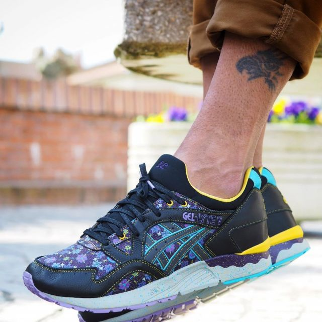 detailed look 66822 f3005 Asics X Limited Edt. Gel Lyte V purple and black Bisoo97120 ...