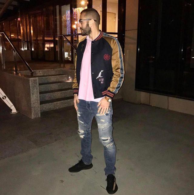 Sneakers Adidas Yeezy Boost Oreo Karim Benzema on his