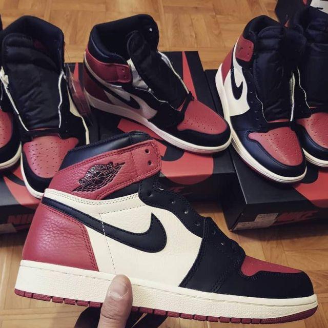 grossiste e2469 98adc Les AIR JORDAN 1 RETRO rouge et noir sur le compte Instagram ...