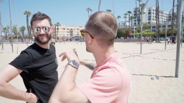 La montre Rolex portée par Squeezie dans la vidéo YouTube ON ROULE EN HARLEY DAVIDSON (Vlog Los Angeles 1)