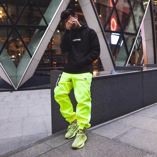 outfits with frozen yellow yeezys cheap