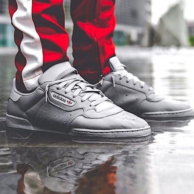 una taza de Al borde Numérico  The pair of Adidas Yeezy Powerphase Calabasas grey that door So_Style on  his post Instagram | Spotern
