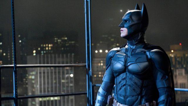 The replica of the mask of Batman / Bruce Wayne (Christian Bale) in The Dark Knight Rises