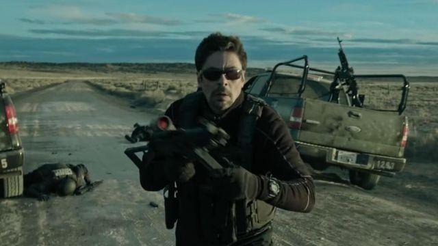 The watch Casio G-Shock range by Alejandro Gillick (Benicio Del Toro in Sicario : the Day of the Soldado