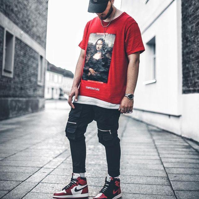 air jordan 1 red outfit
