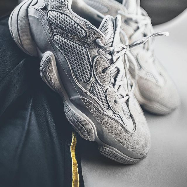 sports shoes 9ac8b ac729 The Adidas sneakers Yeezy 500 Blush of Niklas Woyt on his ...