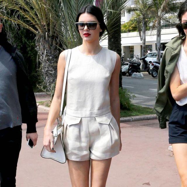 Le sac blanc porté par Kendall Jenner lors du Festival de Cannes 2014 (photo Instagram)