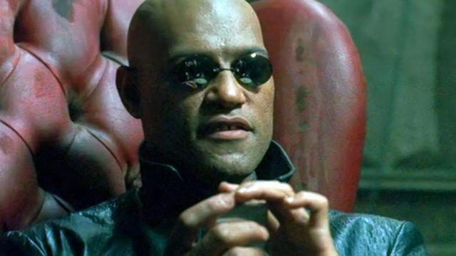 Les lunettes de soleil de Morpheus (Laurence Fishburne) dans Matrix