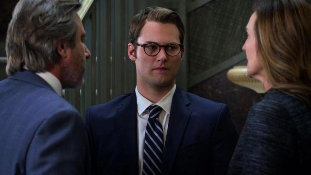 Eyeglasses tortoise shell Bryce Walker (Justin Prentice) in 13 Reasons Why S02E11