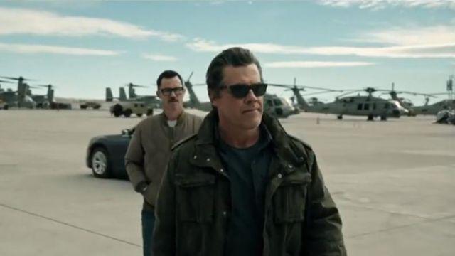 Black sunglasses worn by Matt Graver (Josh Brolin) as seen in Sicario 2: Day of The Soldado