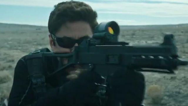 black sunglasses worn by Alejandro Gillick (Benicio del Toro) in Sicario 2: Day of the Soldado