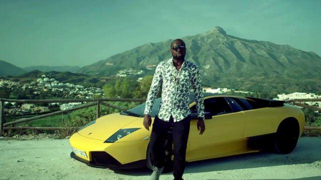 La Lamborghini Huracan jaune de Maître Gims dans son clip Bella