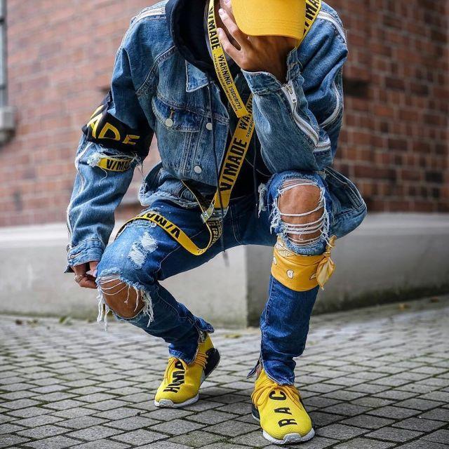 Sneakers yellow adidas NMD HU Pharrell