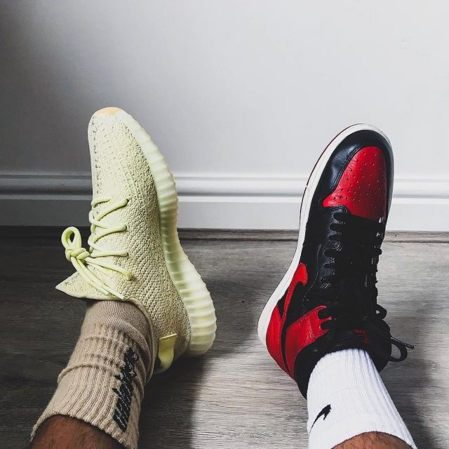 Les sneakers jaunes adidas Yeezy Boost 350 V2 Butter que