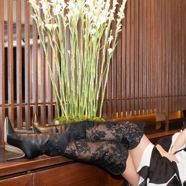 Black boots Gianvito Rossi Thigh high