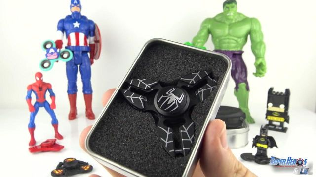 Iron Man Captain America Spiderman head Metal Fidget Spinner Hand Finger EDC Toy