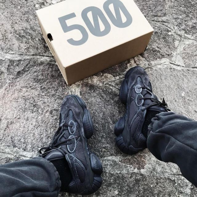save off d148e c20ab Sneakers black adidas Yeezy 500 Utility Black that carries ...