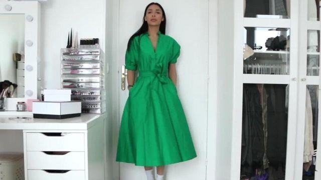 La robe longue robe verte Zara #zatra présentée par Sananas