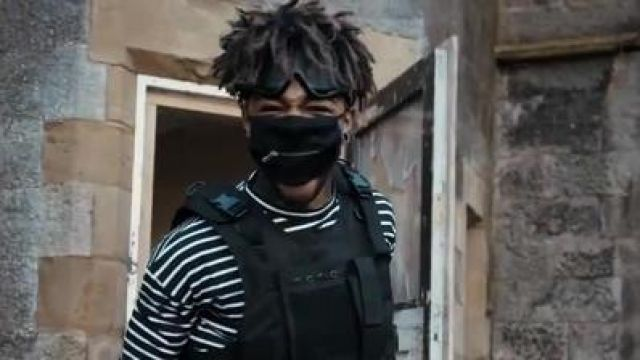 The black mask with Zip Scarlxrd in his clip Bands   Spotern