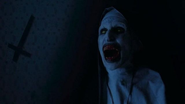 The replica of the mask of the demon Valak / Nun devil