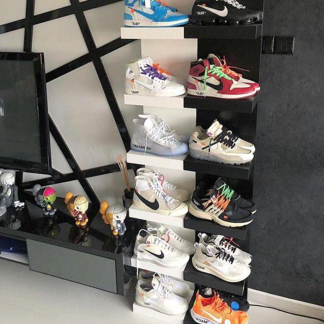 La paire de Nike x Off White Zoom Fly sur le compte