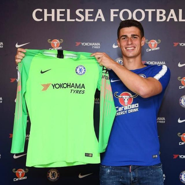 cheap for discount 4ff41 d0818 The goalkeeper shirt Chelsea FC 2018-2019 worn by Kepa ...