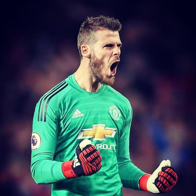 sports shoes 5a359 a4c0e The shirt Adidas goalkeeper of Manchester United season 2018 ...